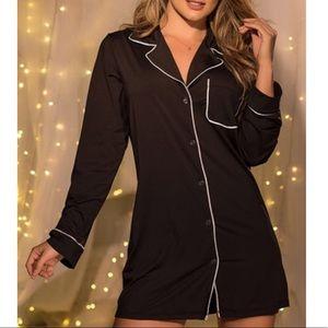 Victoria Secrets Button Up Sleep Shirt